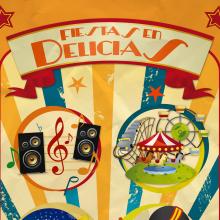 """Cartel - """"Fiestas en Delicias"""" 2010. Un proyecto de Diseño gráfico de Sonia San José Campos - 01.07.2010"""