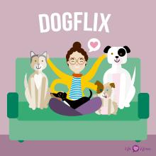Dogflix. Un proyecto de Diseño de personajes de Eva Jardi - 07.04.2018