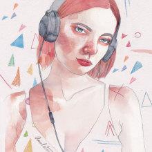 Listen. Un proyecto de Ilustración de Amalia Torres - 14.04.2018