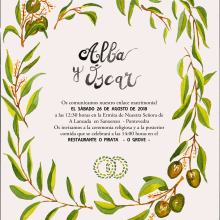 Invitación de boda. A Fine Art project by Loli Crespo - 04.23.2018