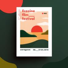 Low batery - Ecozine Film Festival 2018. Um projeto de Ilustração, Design gráfico e Papercraft de Inés Marco Aguilar - 24.04.2018