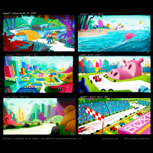 """Concept art for """"Pocoyo and the Dreams Machine"""", animated feature project.. A Design, Advertising, Film, Video, TV, Animation, Industrial Design, Interior Design, To, Design, Film, TV, 3D Animation, Sketching, Creativit, Digital illustration, Stor, and telling project by Pedro Bascon - 01.01.2015"""