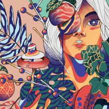 Pachamama. A Digital illustration project by Julian Ardila - 10.01.2017