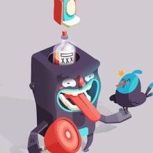 Stickers Facebook. A Digital illustration project by Julian Ardila - 11.24.2013