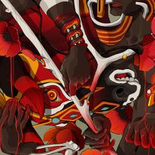 Carnaval. A Digital illustration project by Julian Ardila - 12.20.2015