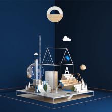 La casa del poeta. A Illustration, 3D, Art Direction & Industrial Design project by Francisco Cortés - 05.08.2018