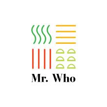Mr. Who. Um projeto de Design, Direção de arte, Br, ing e Identidade, Artes plásticas, Culinária, Design gráfico, Tipografia, Diseño de iconos, Design de cartaz e Design de logotipo de Lola Téllez - 14.05.2018
