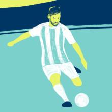 Mi Proyecto del curso: Messi, the best player ever. A Design von Figuren, 2-D-Animation und Digitale Illustration project by Fernando Vazquez - 16.05.2018