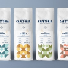 Cafetoria. A Art Direction, Br, ing, Identit, Creative Consulting, Graphic Design, Packaging, Vector Illustration, Icon design, and Pictogram Design project by Diferente - 05.23.2018