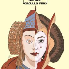 Día del Orgullo Friki. 25 de mayo.. Un proyecto de Ilustración, Educación, Bellas Artes, Cómic, Cine, Dibujo e Ilustración digital de Alejandro Fuentes Alonso - 25.05.2018