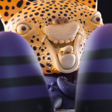 Guerrero Jaguar. Un proyecto de Ilustración, Diseño de personajes, Bellas Artes, Pintura, Diseño de producto y Escultura de Mitote Rodela - 30.05.2018