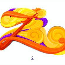 Fluid Letters Series. Z. Un proyecto de Diseño, Ilustración, Publicidad, Dirección de arte, Diseño gráfico, Tipografía, Escritura, Caligrafía, Lettering, Ilustración vectorial, Dibujo e Ilustración digital de Maikel Martínez Pupo - 31.05.2018