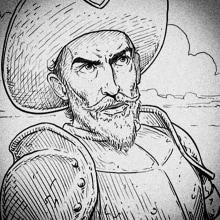 The Man Who Killed Don Quixote - Storyboards. A Illustration, Kino, Video und TV, Kino, Stor und board project by Pablo Buratti - 07.06.2018