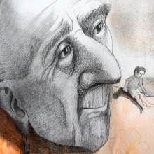 """""""El gigante egoísta"""" Mi Proyecto del curso: Introducción a la psicología del color: la narrativa cromática. Un proyecto de Ilustración, Dibujo a lápiz y Dibujo de Raquel Labrador - 07.06.2018"""