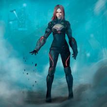 Agent XV - Mi Proyecto del curso: Diseño de personajes para concept art. Un proyecto de Diseño de personajes de Germán Santero Moreno - 11.06.2018