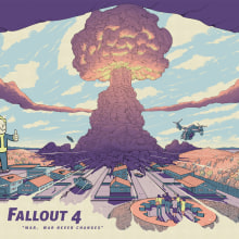 Fallout 4. A Poster Design, Illustration, and Digital illustration project by Cristian Eres - 06.15.2018