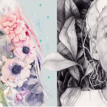 """Ilustración para """"El futuro es femenino"""". . Un proyecto de Ilustración, Diseño editorial e Ilustración de retrato de Beatriz Ramo (Naranjalidad) - 15.10.2017"""