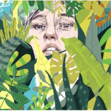 Cartel para taller de ilustración en Fnac Callao. . Un proyecto de Ilustración, Diseño de carteles e Ilustración de retrato de Beatriz Ramo (Naranjalidad) - 15.04.2017