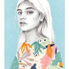 Domingos al sol.. Un proyecto de Ilustración e Ilustración de retrato de Beatriz Ramo (Naranjalidad) - 15.06.2018