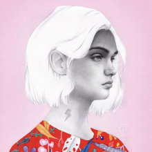 Indiferencia. Un proyecto de Ilustración e Ilustración de retrato de Beatriz Ramo (Naranjalidad) - 15.06.2018