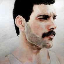 Freddie Mercury. Un proyecto de Dibujo de Gabi Bucio - 26.06.2018