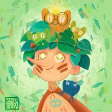 Beatrice Blue redraw #drawthisinyourstyle. Un projet de Illustration de Marta Elza - 16.07.2018