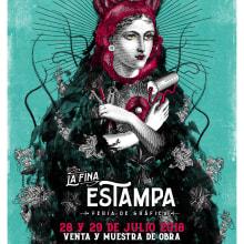Diseño e ilustración de afiche para Feria Gráfica . A Collage & Illustration project by Zoveck Estudio - 07.17.2018