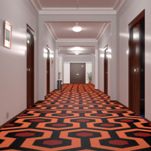 The Shining hallway. A Film, Video, TV, 3D, Architecture, Information Architecture, Interior Architecture, Film, and 3D Animation project by Davide Benetti - 07.19.2018