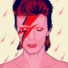 DAVID BOWIE. A Illustration, Graphic Design, Vector Illustration, Digital illustration, and Portrait illustration project by Jonathan Chún Has - 07.21.2018