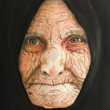 Mi Proyecto del curso:  Retrato realista con lápices de colores. Um projeto de Artes plásticas de Sonia Salvador Luna - 15.07.2018
