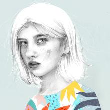 Ojos. Un proyecto de Ilustración e Ilustración de retrato de Beatriz Ramo (Naranjalidad) - 15.06.2018
