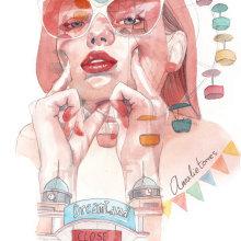 Dreamland. Un proyecto de Ilustración de retrato de Amalia Torres - 26.05.2018