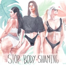 Stop body-shaming. Un proyecto de Ilustración de Amalia Torres - 01.08.2018