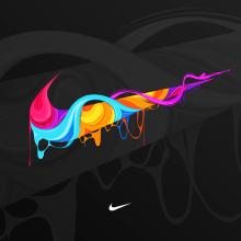Nike Graphic Design Shirt. Un proyecto de Diseño, Ilustración, Publicidad, Dirección de arte, Diseño gráfico e Ilustración vectorial de Maikel Martínez Pupo - 04.08.2018