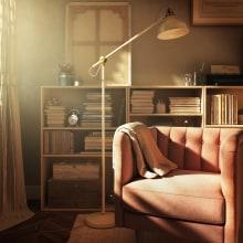Reading Corner Day Version. A Design, 3D, Furniture Design, Industrial Design, Interior Architecture & Interior Design project by Sara Gonzalez - 08.09.2018