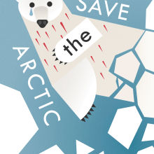 Poster Save the Arctic. A Illustration, Fine Art, Graphic Design, and Poster Design project by Marina Montero - 06.17.2018