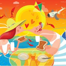 Summer Time   www.juanma.es. Un proyecto de Ilustración e Ilustración vectorial de Juanma García Escobar - 18.08.2018