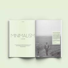 Revista Minimalista. Un proyecto de Diseño editorial y Diseño gráfico de Maria Gutiérrez Arrillaga - 18.08.2018