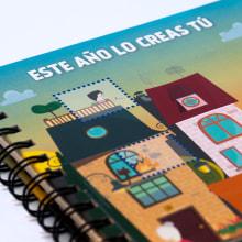 Agenda corporativa · Ilustración. Un proyecto de Diseño, Dirección de arte, Diseño gráfico e Ilustración vectorial de Diego Checa - 22.08.2018