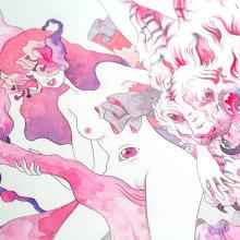 Atmósferas (Lápiz + Acuarela en Papel de Algodón). . Un progetto di Illustrazione, Disegno , e Pittura ad acquerello di Violeta Hernández - 23.08.2018