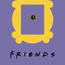 Friends Vectorial. Un proyecto de Ilustración, Diseño gráfico, Ilustración vectorial y Diseño de carteles de Ángela Gutiérrez Graphic Design - 05.09.2018