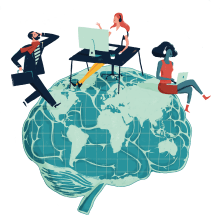 Shared Leadership in Global Virtual Teams. Un proyecto de Diseño gráfico, Ilustración y Publicidad de Albert Pinilla Ilustrador - 07.09.2018