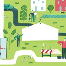 Albert Pinilla illustration for Akotek's web Header. Un proyecto de Diseño gráfico, Ilustración y Publicidad de Albert Pinilla Ilustrador - 07.09.2018