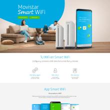 Landing Movistar Smart Wifi. Um projeto de Direção de arte, Web design e Retoque fotográfico de Victor Andres - 25.07.2018
