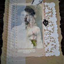 """""""Mi Corazón salta de emoción"""" Bordado en papel (Puntada Morse y Punto Francés). Un proyecto de Bordado de Brenda Paola Cristán García - 12.09.2018"""