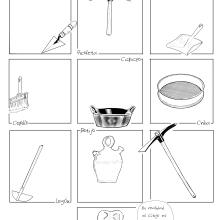 El Kit Arqueológico - Segunda versión para estampar en camisetas.. Un proyecto de Ilustración, Cómic, Cine e Ilustración digital de Alejandro Fuentes Alonso - 11.09.2018