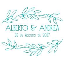 papelería boda. A Grafikdesign project by Andrea Goiez - 01.08.2017
