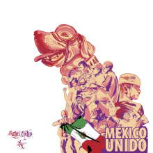 México unido. Um projeto de Ilustração vetorial, Design de cartaz e Ilustração digital de Rafael Cortes Casas - 19.09.2018