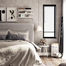 Dormitorio nordic style. A 3D, Architecture, Interior Architecture & Interior Design project by Sara Gonzalez - 09.09.2018