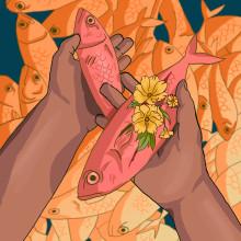 Fish man . Un proyecto de Ilustración e Ilustración digital de Daniela Salazar - 30.09.2018